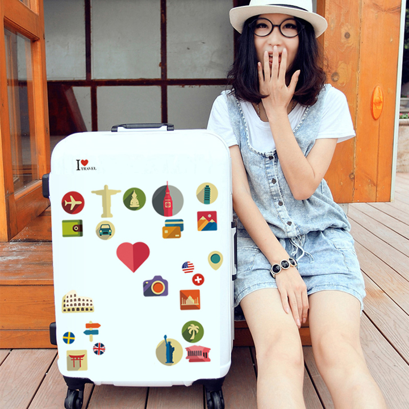 The meaning of travel wall stickers Home decor jdm on laptop sticker decal fridge personality Creative Suitcase sticker