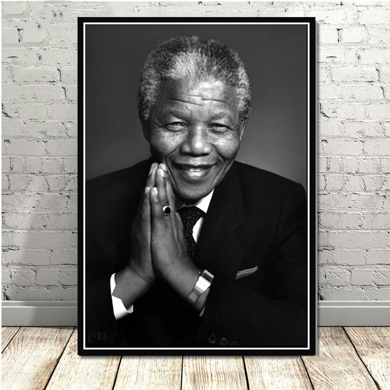 poster prints nelson mandela great leader star art painting ink canvas oil painting art wall pictures for living room home decor