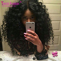 180% Density Glueless Lace Front Wig Loose Curly Brazilian Human Hair Wig Unprocessed Virgin Hair With Baby Hair Full Lace Wigs
