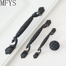 3.75 5 6.3 Dresser Pulls Drawer Knobs Handles Black / Rustic Vintage Furniture Cabinet Pull Handle Door
