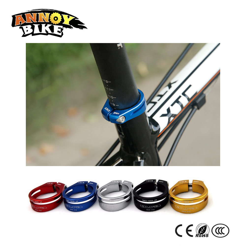 Aluminum Alloy Saddle Clamp Cycling Saddle Seat Post Clamp Parts for Bicycles N
