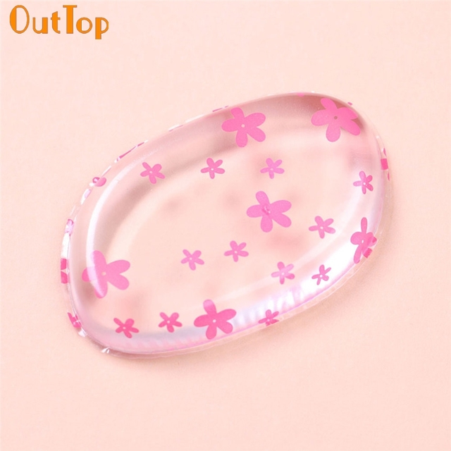 Makeup OutTop ColorWomen Flowers Printed Silicone Makeup Puff For ...