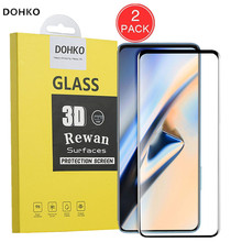DOHKO 2 PACK For Oneplus7 pro 3D Screen Protector Protective Film For Oneplus 7  Full Cover HD Tempered Glass original 2pcs pack good hd screen protector for apple new 2017 ipad 9 7 pro 9 7 air 1 2 protective film cover alcohol bag rag