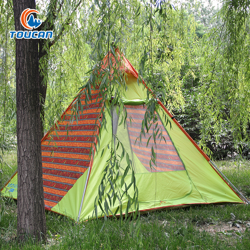 New Indian Pyramid Shape Outdoor Tent Wild Pole Aluminum Canopy Large Space Tent esspero canopy