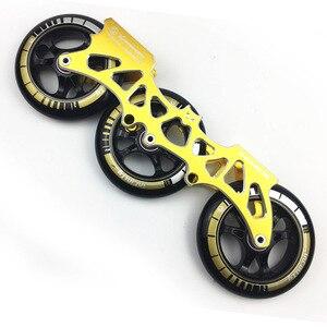 Image 3 - Рама и 85а колеса и подшипники 3*100/110 мм основание для встроенных коньков для слалома для катания на коньках для взрослых детей бассейна коньков DJ49