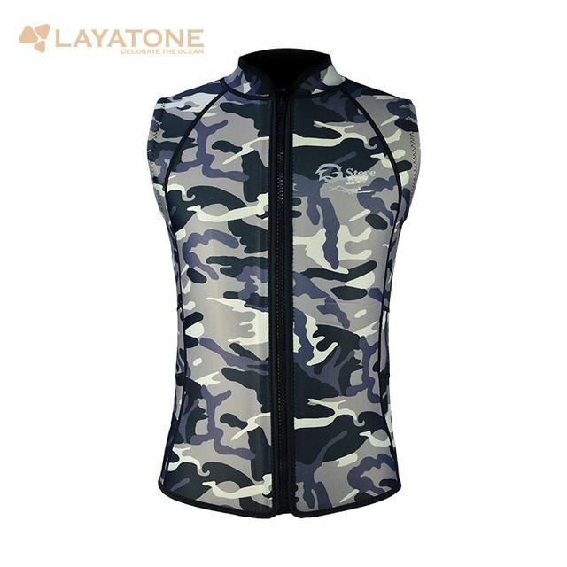 Layatone Wetsuit Vest 3mm Neoprene Camouflage Men Women For Surfing Scuba Diving Free Dive Windsurf Swim Snorkeling Waterski