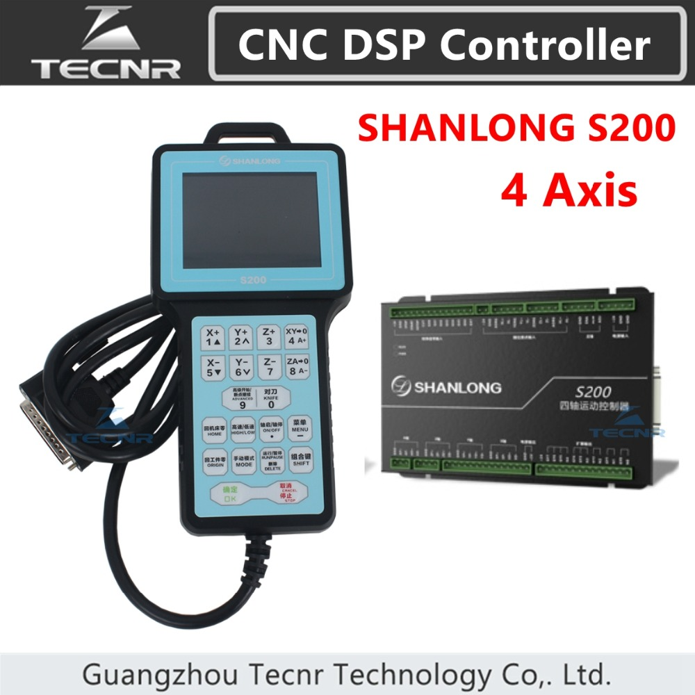 TECNR SHANLONG S200 DSP Controller 4 Axis Controller Remote For Engraving Machine Cylinder CNC DSP Controller