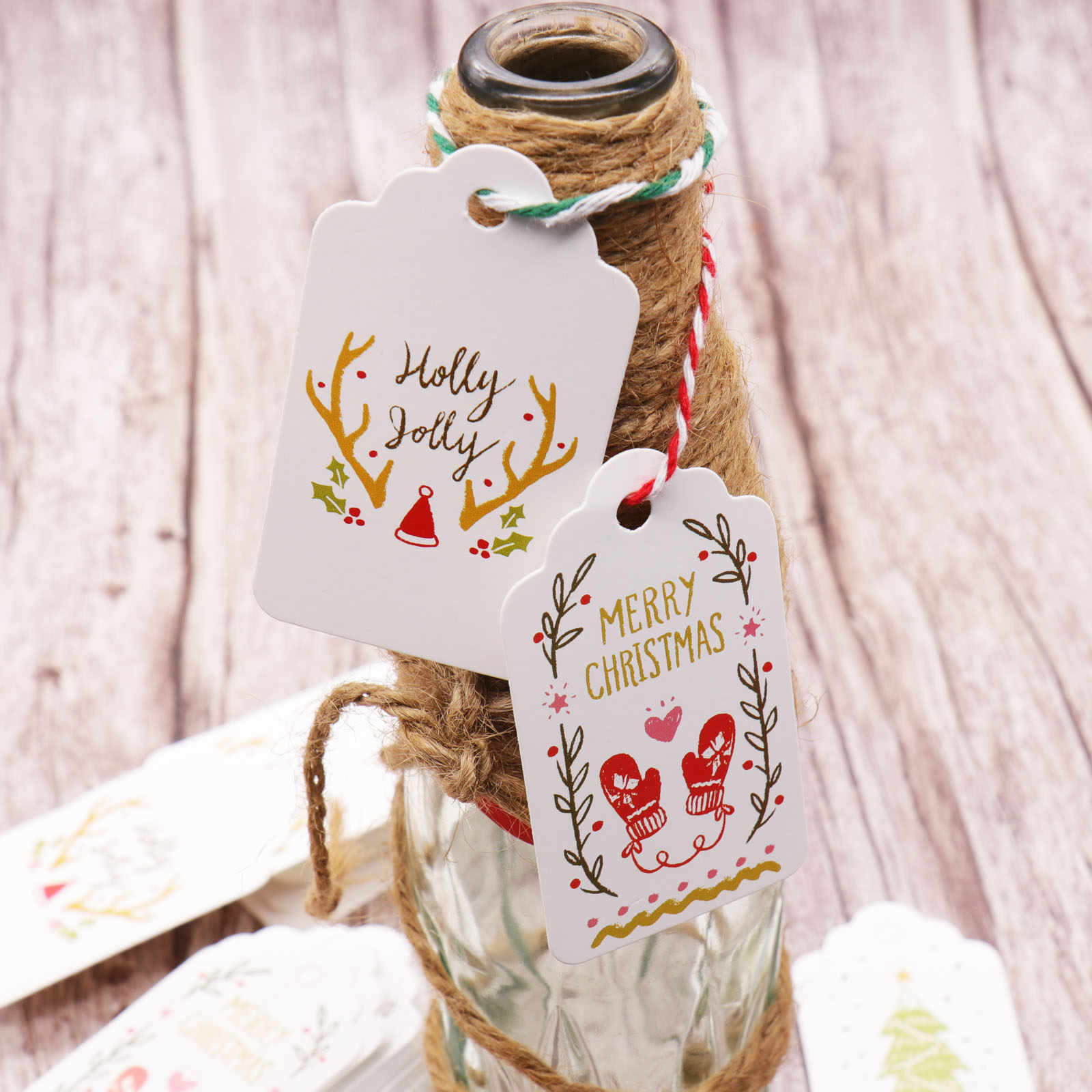 Merry Christmas Gift Tags.50pcs Diy Kraft Paper Christmas Tag Wish Card Merry Christmas Gift Tags Label For Gift Wrapping Xmas New Year Party Decor