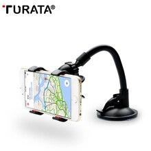 TURATA автомобильный держатель телефона, гибкий 360 градусов Регулируемый автомобильный держатель мобильного телефона для смартфона 3,5-6 дюймов, поддержка gps