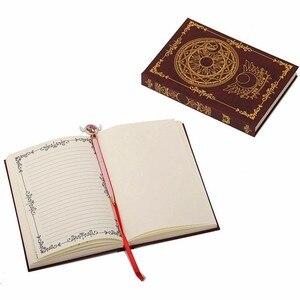 Image 3 - Caderno mágico de animes sakura cerberus, padrão de estrela de palhaço, livro de diário para presente para amigos