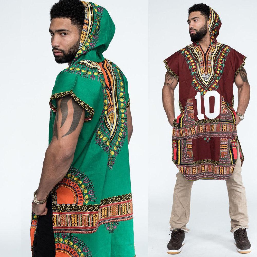 Men/'s African Dashiki Tribal Print Shirts Men Hippie Party Baggy Tops Tee Shirts