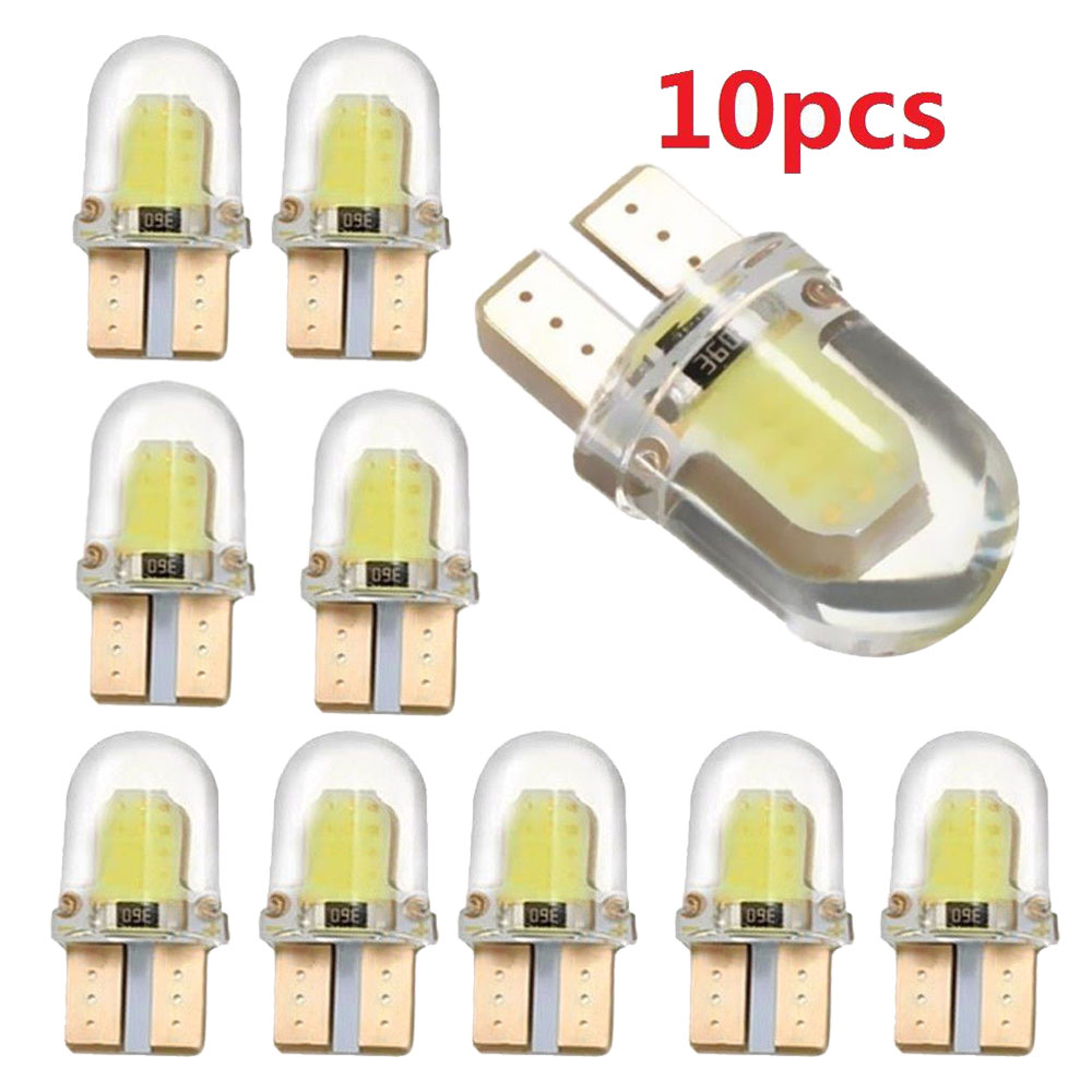 10Pcs W5W <font><b>T10</b></font> <font><b>LED</b></font> Lamp COB 8 SMD White Dome License Plate Lights Lamp Trunk Light Readling Auto <font><b>Led</b></font> Lamps White Yellow <font><b>12</b></font> <font><b>V</b></font> image