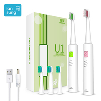 2017 Lansung Electronic Toothbrushes For Kids Children Electric Toothbrush Rechargeable With USB Safe Kids Toothbrush Electric