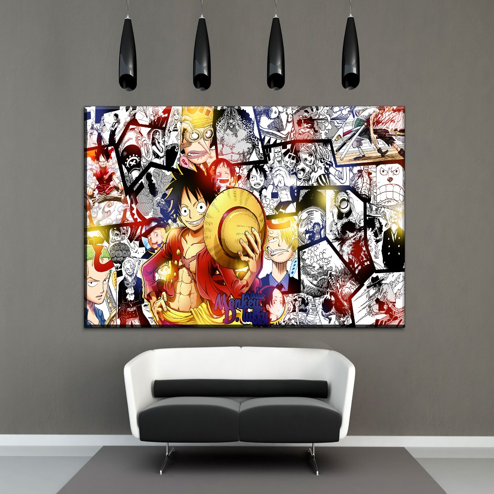 Posters And Prints Dragon Ball Anime One Piece Poster Decorative Canvas Painting Wall Art Picture For Living Room Home Decor Modern And Elegant In Fashion Painting & Calligraphy