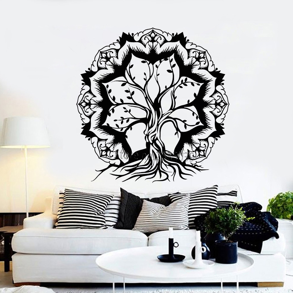 Hot Sale Lotus Flower Abstract Tree Of Life Branches