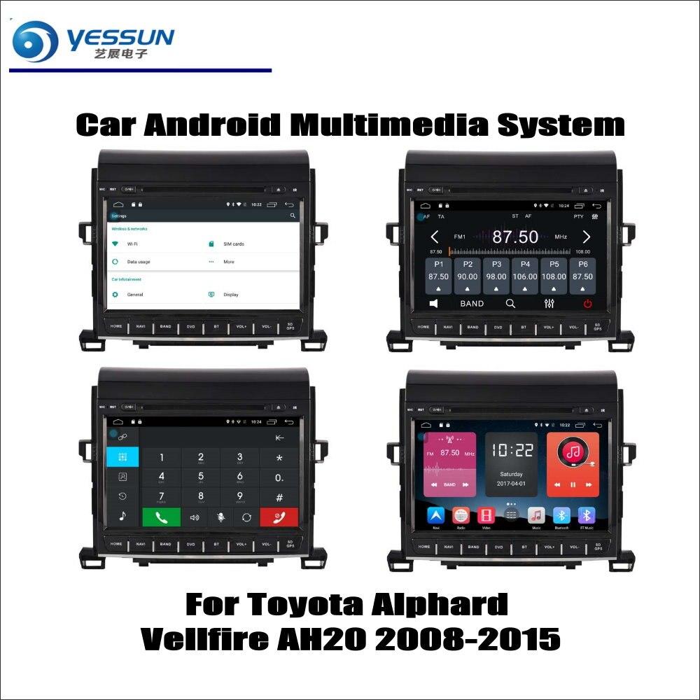 Pour Toyota Alphard Vellfire AH20 2008-2015 autoradio lecteur CD DVD Navigation GPS système Android HD 9