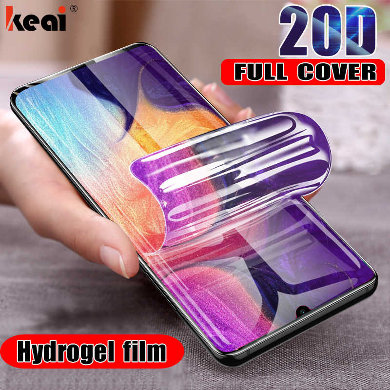 20D Hydrogel Film For Samsung Galaxy S8 S9 Plus Screen Protector For A50 A30 A20 A70 A80 A90 A10 M10 M20 M30 Soft Film Not Glass