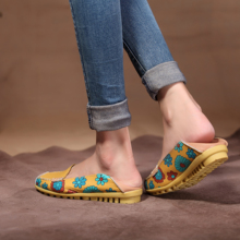 Casual Leather Womens Flats