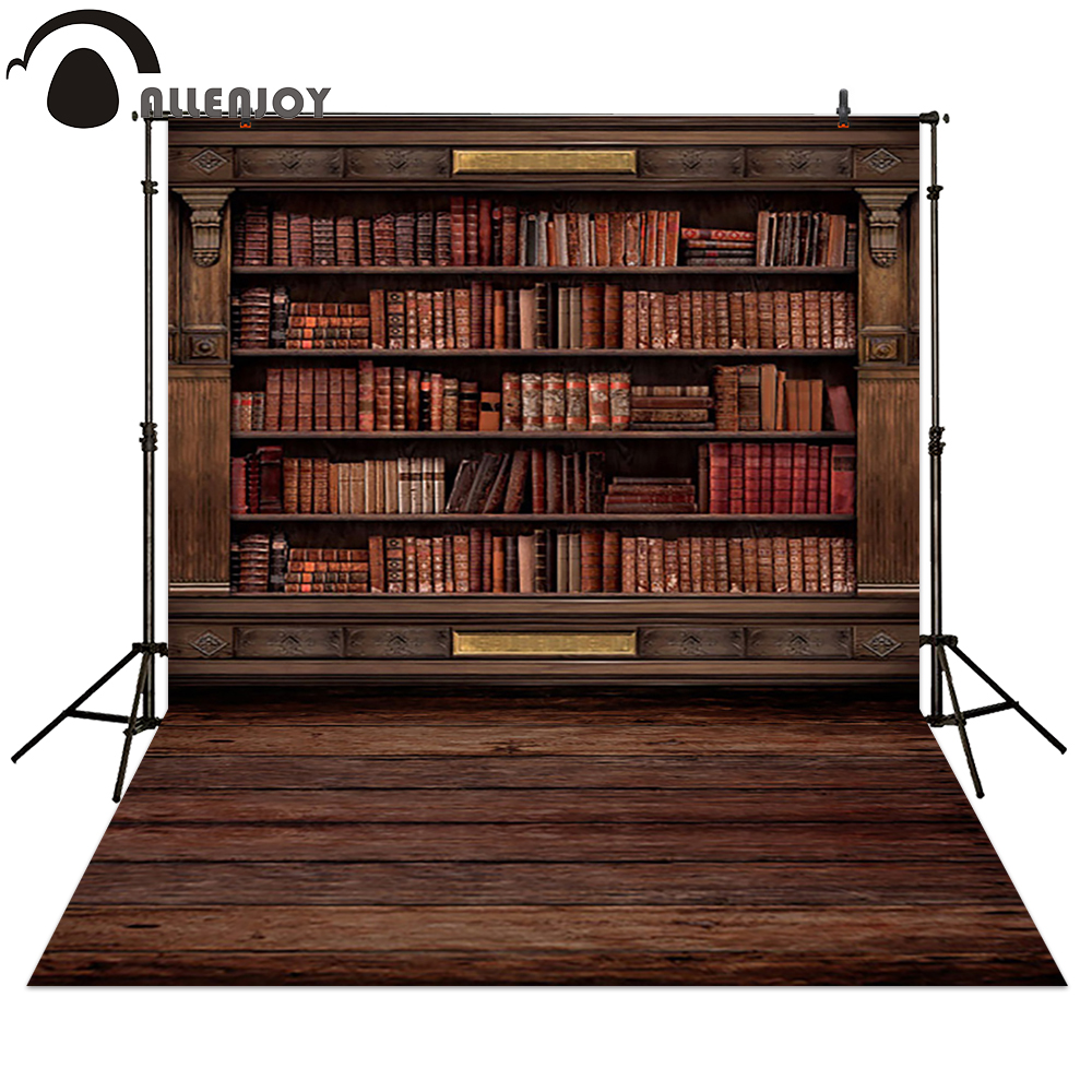 Allenjoy Photography Backdrops Book Shelf In Library Graduation Season Background For Photo Studio