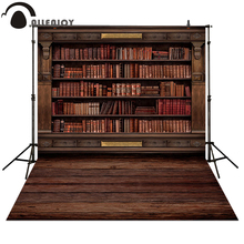 Allenjoy Photography backdrops Book shelf in Library graduation season background for photo studio allenjoy photography backdrops paper plane children newborn background for photo studio