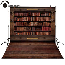 Allenjoy Photography backdrops Book shelf in Library graduation season background for photo studio(China)