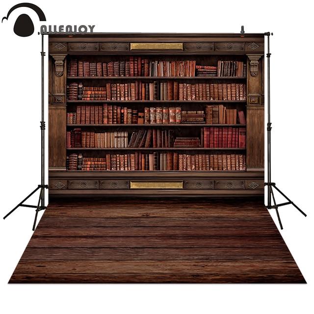 Allenjoy Photography backdrops Book shelf in Library graduation season background for photo studio