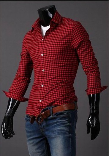 Aliexpress.com : Buy Camisa Blouse Men Checked Shirt For Men ...