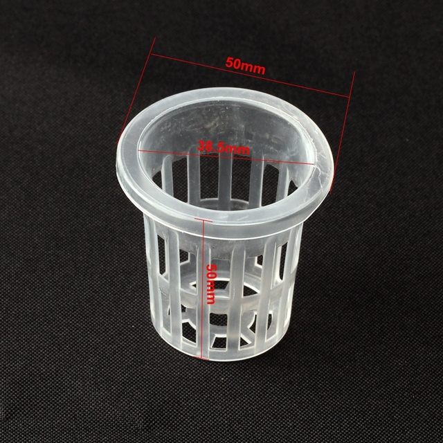30pcs Dia38.5mm Mesh Pot Net Basket Hydroponic Aeroponic Vegetable Nursery Pots Agriculture Spatial Soilless Culture Equipment