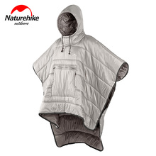 Naturehike Men Women Warm Cotton Sleeping Bag Portable Quilt Outdoor Camping Travel Wearable Water-resistant Cloak ultra light portable double sleeping bag liner 100% cotton healthy outdoor camping travel 220 160cm 2 color naturehike