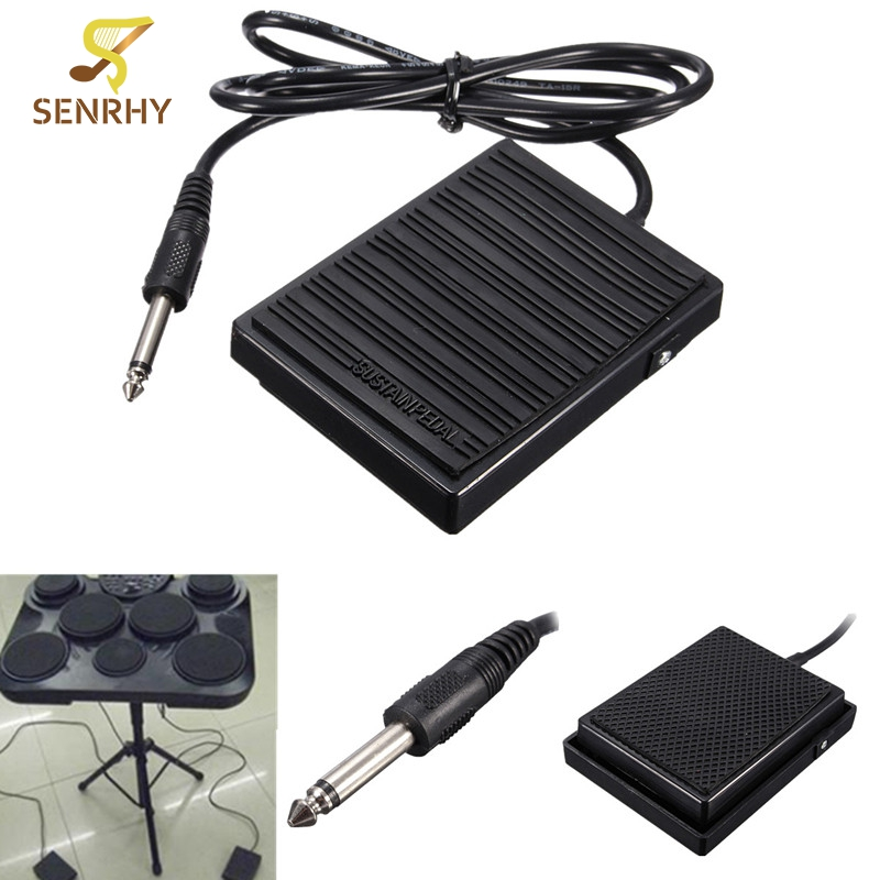 Zwart Universele Voet Sustainpedaal Controller Schakelaar Voor Elektronische Piano Toetsenborden Instrumenten Muzikale Tone Piano Accessoires