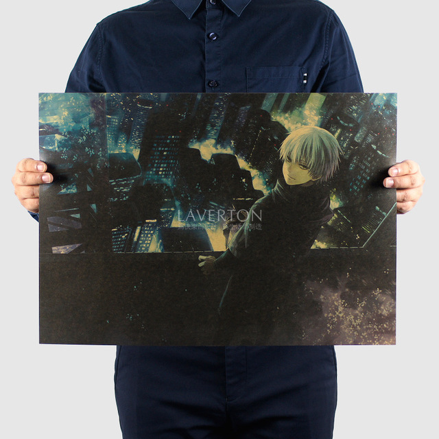 Tokyo Ghoul Retro Poster Decorative Painting