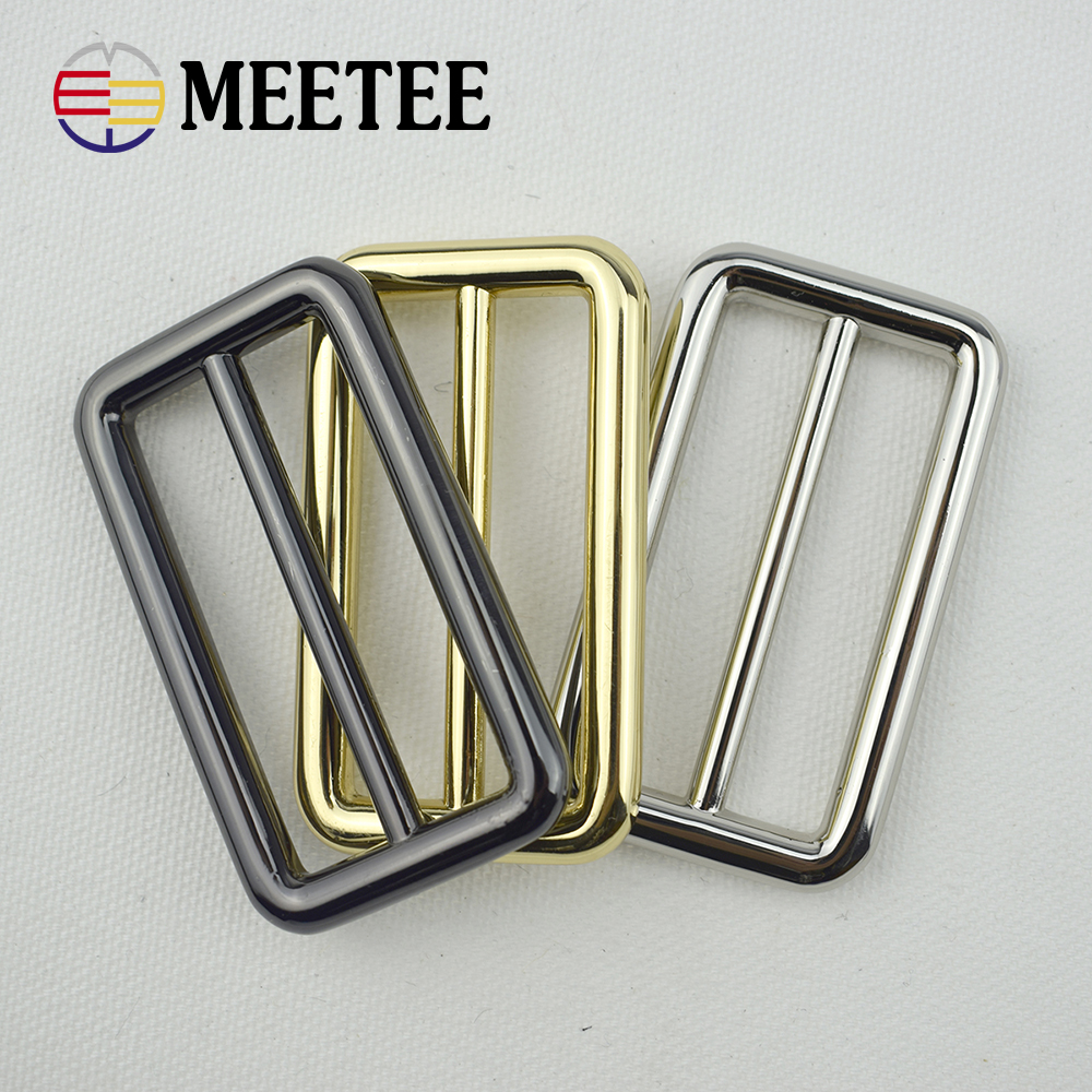 Home & Garden Bronze 38mm Metal Curved Tri-glide Adjusted Belt Webbing Buckles For Bags Strap D Ring Square Loop Diy Sewing Accessories Buckles & Hooks