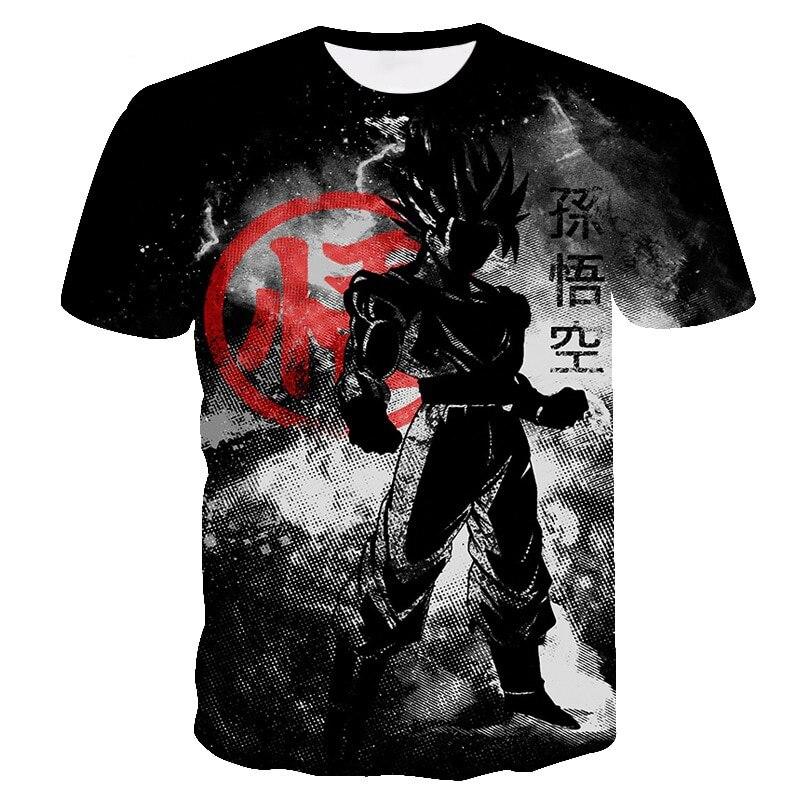 2019 New Hot Dragon Ball Z Series Super Saiyan Son Goku Black Vegeta Battle Dragonball 3D Printed Men's T Shirt Summer Top Tees