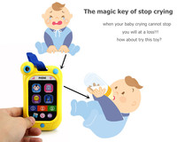 Baby Kids Stop Crying Music Telephone Study Musival Learning Sound Cell Phone Toys Educational Instrument Random