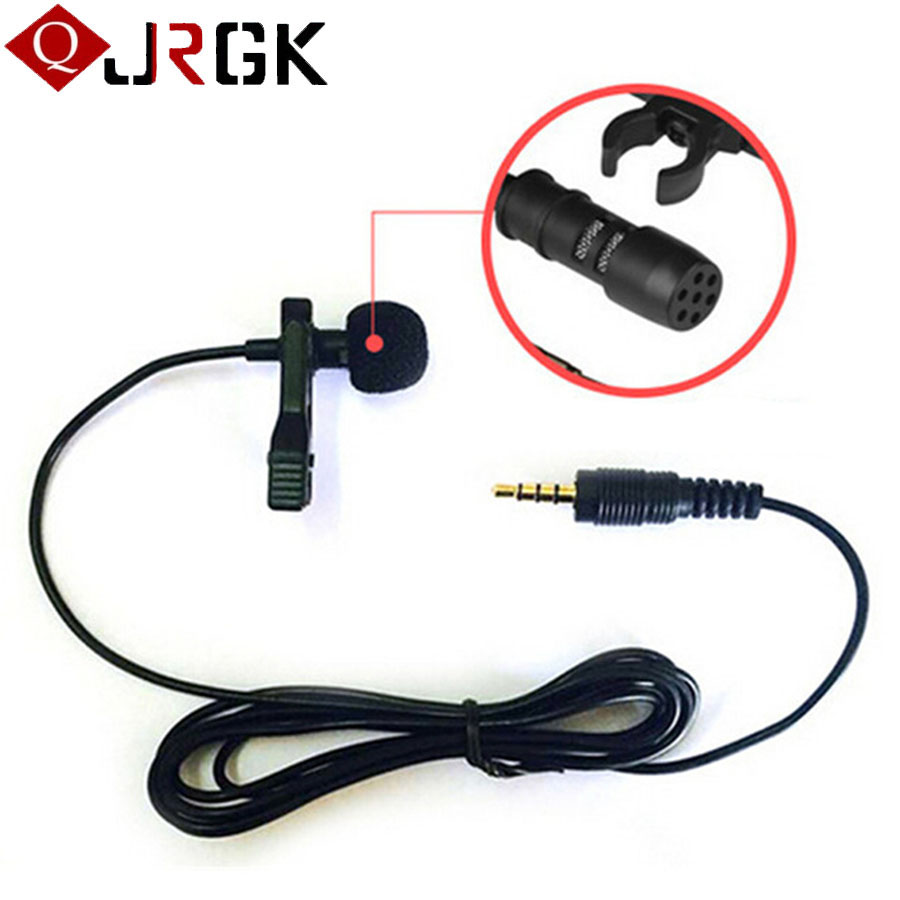 50 PCS Portable condenser Microphone 3.5mm Jack mini Lavalier wireless microphone For iphone sansung smart phone Android