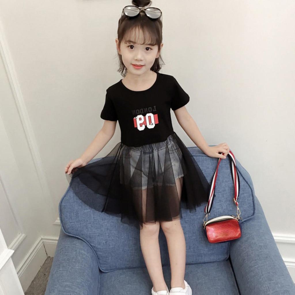Toddler Kids Baby Girls Clothes Princess Dresses Letter Print Tulle Summer Children Clothes Toddler Girls Dress Vestidos New 8