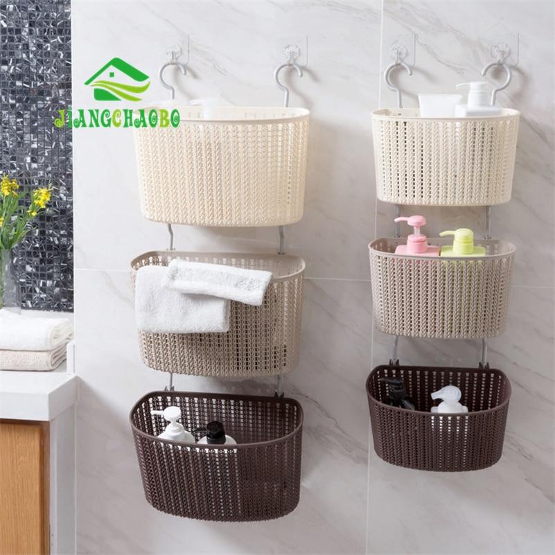 Merveilleux JiangChaoBo 1 Pcs Imitation Rattan Woven Storage Baskets Drain Free  Bathroom Shelves Bathroom Wall Mounted Bath Wash Basket In Storage Baskets  From Home ...