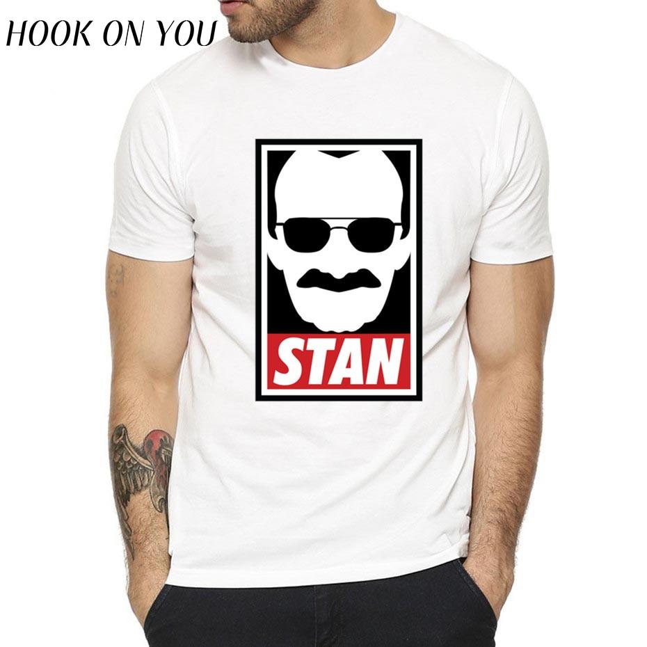 New Arrival Men's Stan Lee Rip 1922-2018 Design Print T-shirts Unisex Casual Harajuku Streetwear Superhero Spiderman Tee Shirt