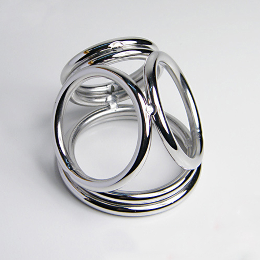 Stainless Steel Penis Ring Cock Ring Testicle Stretcher Ball Ring Delay Ejaculation Sex Ring Sex Products For Men Penis-In Penis Rings From Beauty -8249