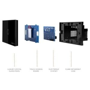 Image 4 - ST1 Funry Sensör Dokunmatik Anahtarı 1 Gang ABD Standart Cam Dokunmatik Anahtarı 110 240 V Işık Sensörü Su Geçirmez Anahtarı duvar Işık Anahtarı
