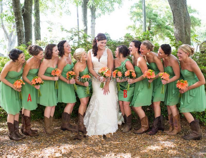 Popular Olive Green Bridesmaid Dresses-Buy Cheap Olive Green ...