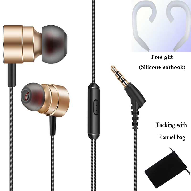 Metal bass music Earphone HC061 magnetic Headset with mic for iPhone xiaomi redmi 5 pro mi 6 huawei samsung xiomi sony phone mp3 langsdom a10 super bass in ear earphone hifi music earplugs metal headset with mic general for phone iphone xiaomi sony pc mp3