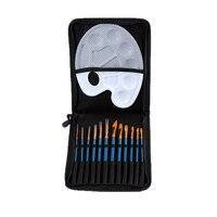 12 adet Yuvarlak Sivri İpucu Naylon Saç Sanatçı Suluboya Akrilik Yağlıboya Fırça Seti yüksek kalite