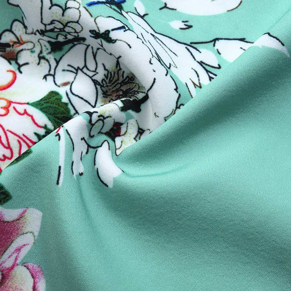 Coromose Women Sleeveless 50s Vintage Floral Garden Party Swing ...