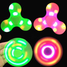 Mini Wireless Bluetooth speaker With Colorful LED lights fidget spinner Toy Speakers Rotating Sound MP3 Speaker Fingertip gyro