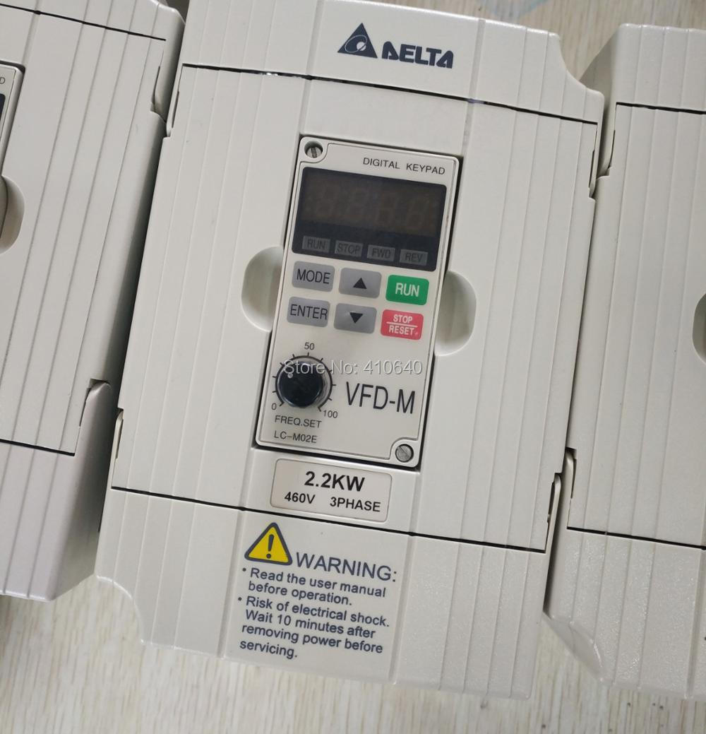 Delta Inverter 2.2 <font><b>KW</b></font> VFD022M43B 3 Phase 380V to 460V Rated <font><b>5</b></font> A Brand New 2200 W VFD Series Variable Speed AC <font><b>Motor</b></font> Drive image