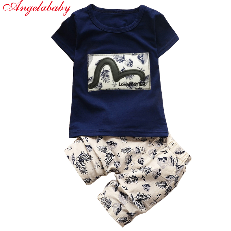 Kid Boys Clothing Sets 2017 Summer Kids Clothes for Boys Fashion t-shirt + pants 2 pcs Baby Boys Toddler Suit