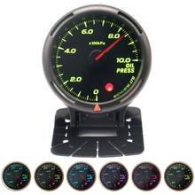 60MM 10Bar Pressure Gauge 64-Color Backlight with Electronic Pressure Sensor (NPT1/8)  for 12V Vehicles