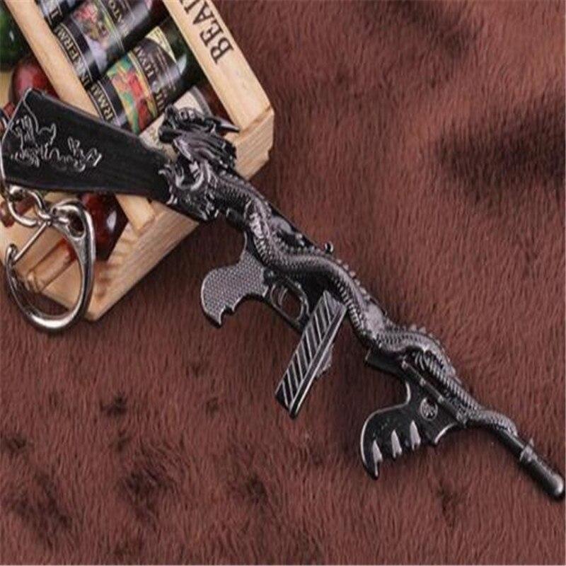 Submachine Gun KeyRing Thompson m1928 Miniature Weapon Model