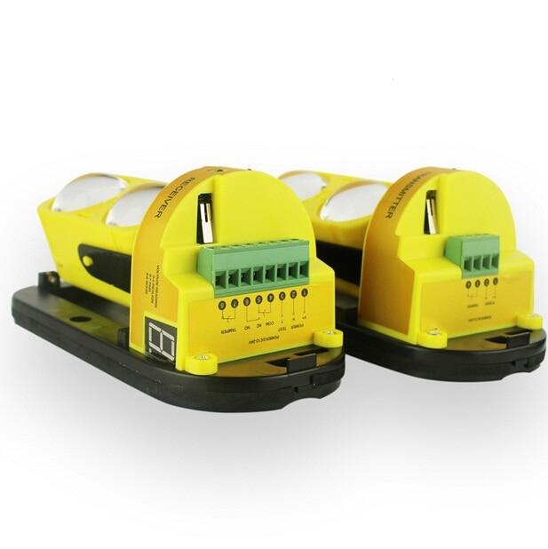 bilder für IP54 40 bis 100 mt led-anzeige Externen 2 strahldetektor Outdoor IR Sensor Dual Strahl Infrarotsperren-detektor Für Alarm system